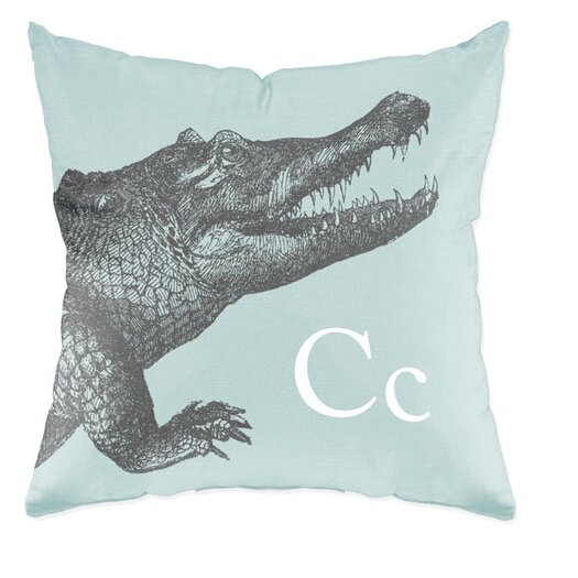 Checkerboard, Ltd Crocodile Polyester Throw Pillow