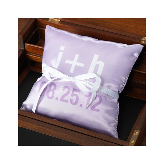 Checkerboard, Ltd Personalized Moderna Ring Pillow