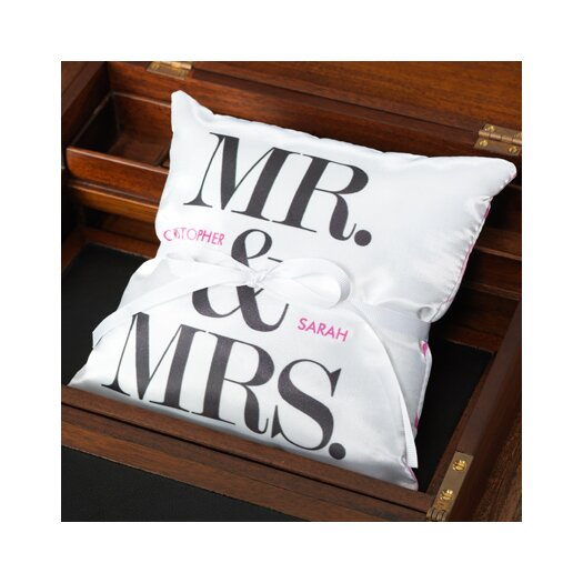 Checkerboard, Ltd Personalized Mr and Mrs Ring Pillow