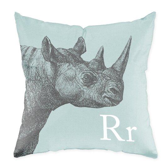 Checkerboard, Ltd Rhino Poly Cotton Throw Pillow