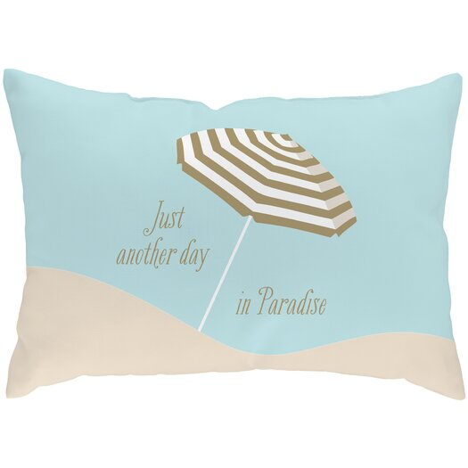 Checkerboard, Ltd Sandy Footprints for 4 Poly Cotton Throw Pillow