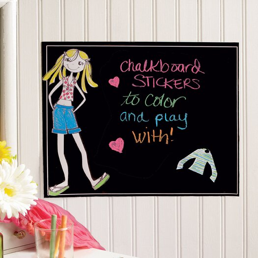 Wallies Ruby Dress-Up Chalkboard Wall Decal