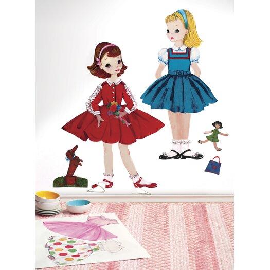 Wallies Peel & Stick Dress Up Doll