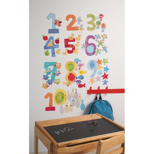 Wallies Peel & Stick Counting Numbers