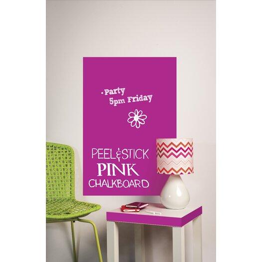 Wallies Peel & Stick Big Pink Chalkboard