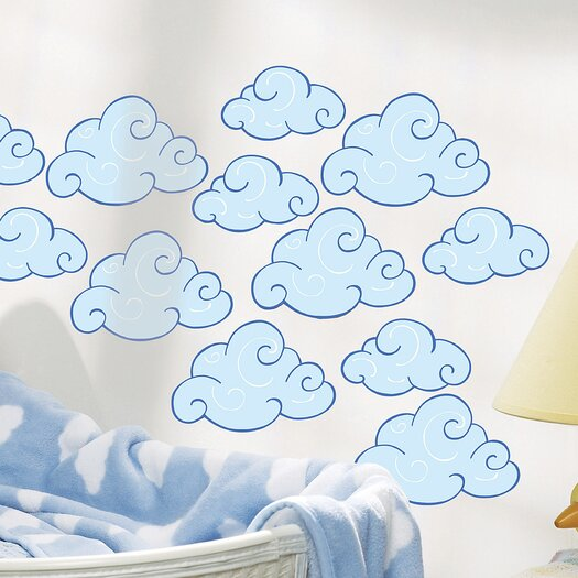 Wallies Swirly Clouds Wallpaper Cutouts