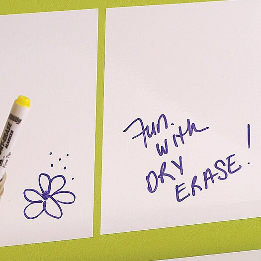 Dry Erase Squares Peel and Stick Decals