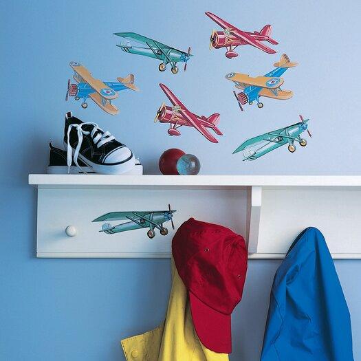 Wallies Vintage Airplanes Wallpaper Cutouts