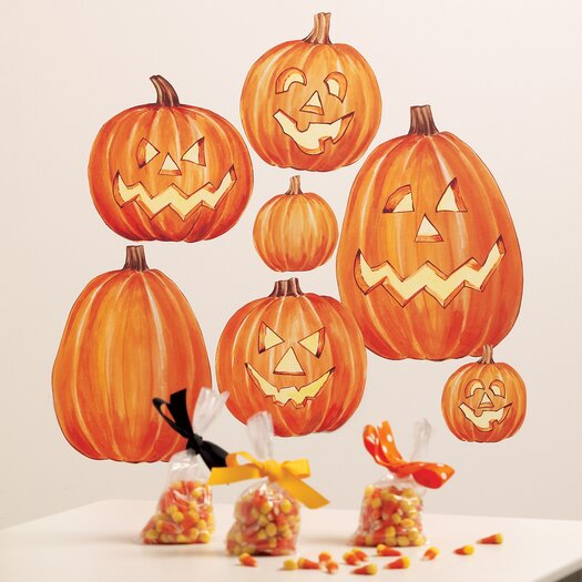Wallies Jack O'Lanterns Vinyl Holiday Wall Mural