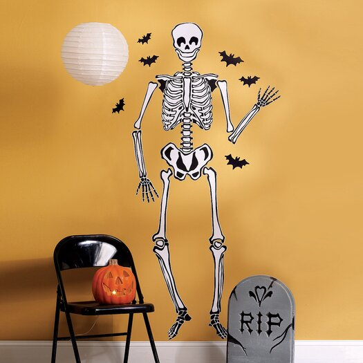 Wallies Skeleton Vinyl Holiday Wall Mural