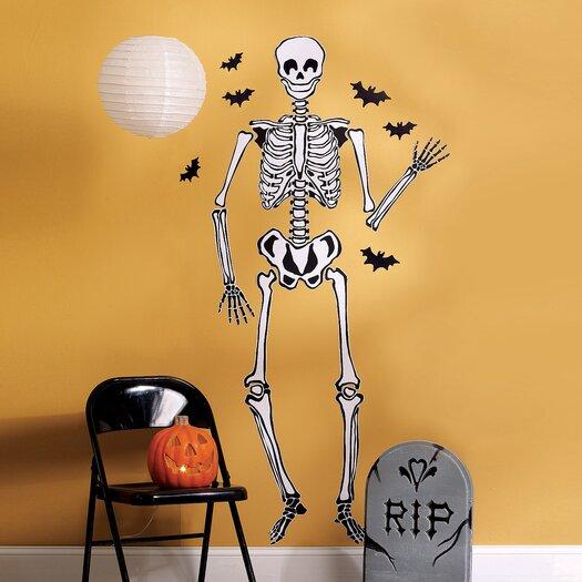Wallies Skeleton Vinyl Holiday Wall Mural