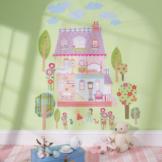 Wallies Play House Interactive Vinyl Peel and Stick Wall Mural