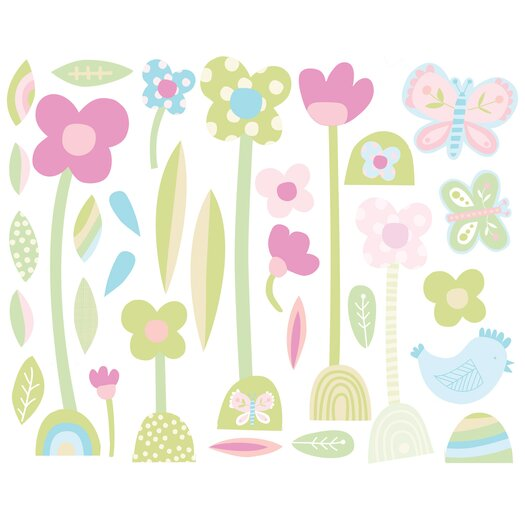 Wallies Baby Daisy Wall Stickers