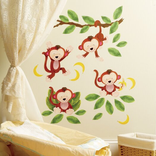 Wallies Baby Monkeys Wall Stickers