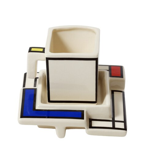 TeaPottery Mondriaan Teacup and Saucer Set