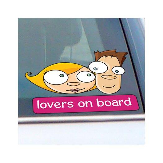 ADZif Signal Lovers on Board Window Sticker