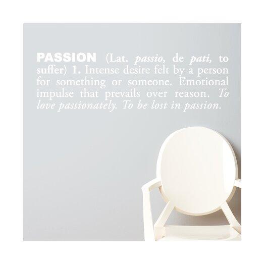 ADZif Blabla Passion (English) Wall Decal