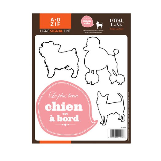 Signal Chien � Board Window Sticker