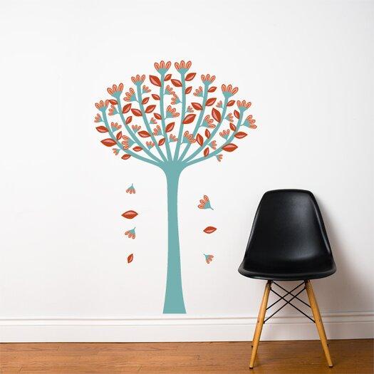 ADZif Spot Spring Tree Wall Sticker