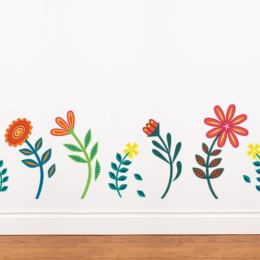 ADZif Spot Blooming Flowers Wall Sticker