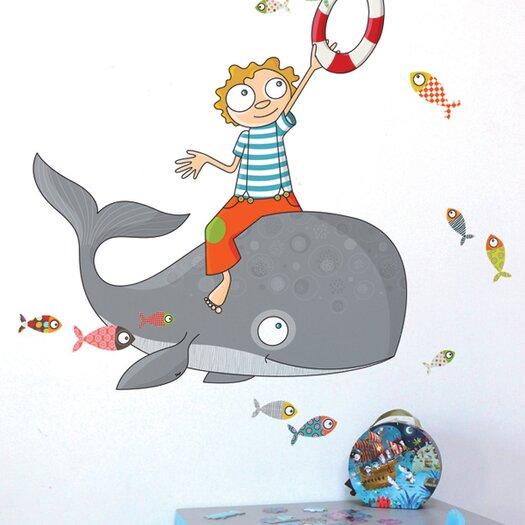 ADZif Ludo Flying Fish Wall Sticker