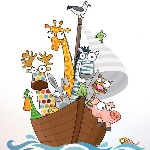 Ludo Funny Ship's Boys Wall Sticker