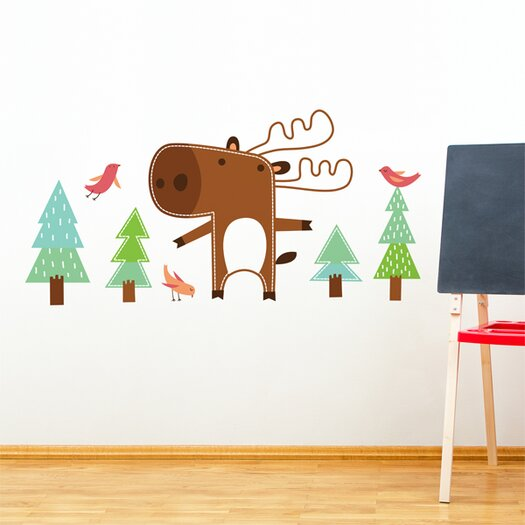 ADZif Piccolo Benjamin The Moose Wall Decal