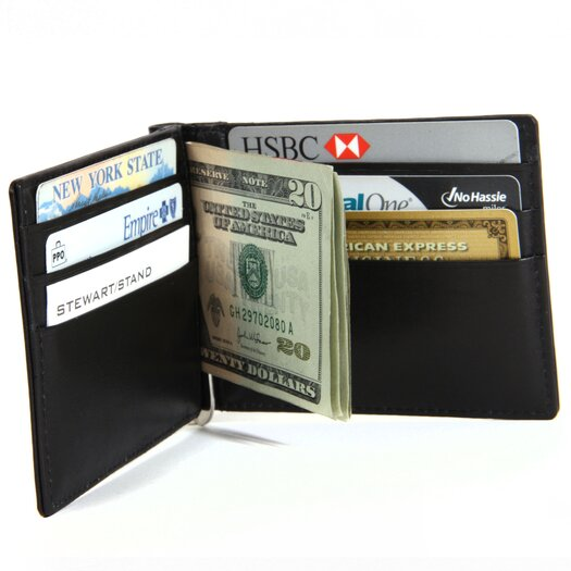 Stewart/Stand RFID Blocking Leather Accent Money Clip Bill Fold Wallet