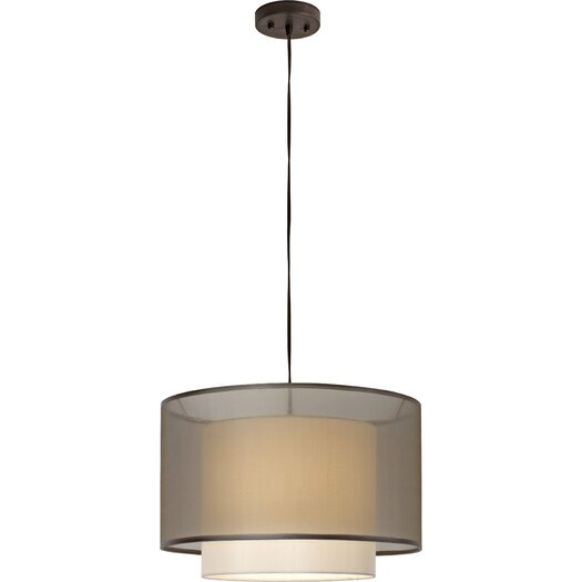 Trend Lighting Corp. Bri Drum 1 Light Foyer Pendant