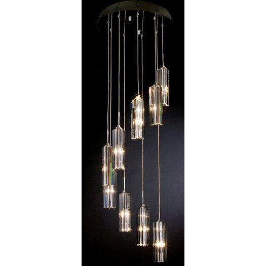 Trend Lighting Corp. Spirale 9 Light Crafted Chandelier