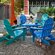 POLYWOOD® Classic Folding Conversation 5 Piece Adirondack Seating Group