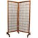 Oriental Furniture Meditation Folding Room Divider in Honey