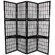 "Oriental Furniture 65.25"" Window Pane 4 Panel Room Divider"