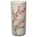 "Oriental Furniture 18"" Cherry Blossom Umbrella Stand in Off White Crackle"