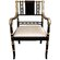 Oriental Furniture Regency Fabric Arm Chair