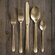DwellStudio 5 Piece Oro Gold Cutlery Set