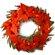 "National Tree Co. Pre-Lit 24"" Poinsettia Wreath"
