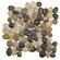 EliteTile Brook Stone Random Sized Unpolished Natural Stone Mosaic in Multicolored