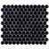 "EliteTile Retro 7/8"" x 7/8"" Glazed Porcelain Hex Mosaic in Matte Black"