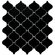 "EliteTile Beacon 12-1/2"" x 12-1/2"" Glazed Porcelain Mosaic in Glossy Black"