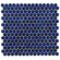 "EliteTile Penny 12-1/4"" x 12"" Glazed Porcelain Mosaic in Blue Eye"