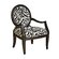 Powell Furniture Classic Seating Zebra Fabric Arm Chair