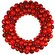 Queens of Christmas Ball Wreath with Tinsel