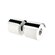 Geesa by Nameeks Nexx Double Toilet Paper Holder with Cover in Chrome