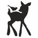 Forest Critter Chalkboard Deer and Bird Vinyl Wall Decal