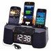 Dok Four Port Universal Charger with Speaker, Clock, Alarm and FM Radio