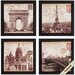 4 Piece Postcard Wall Art Set