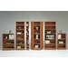 "Section 80"" H Six Shelf Narrow Bookcase"