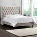 <strong>Mystere Velvet Upholstered Wingback Bed</strong> by Skyline Furniture