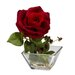 Rose with Square Vase Silk Flower Arrangement